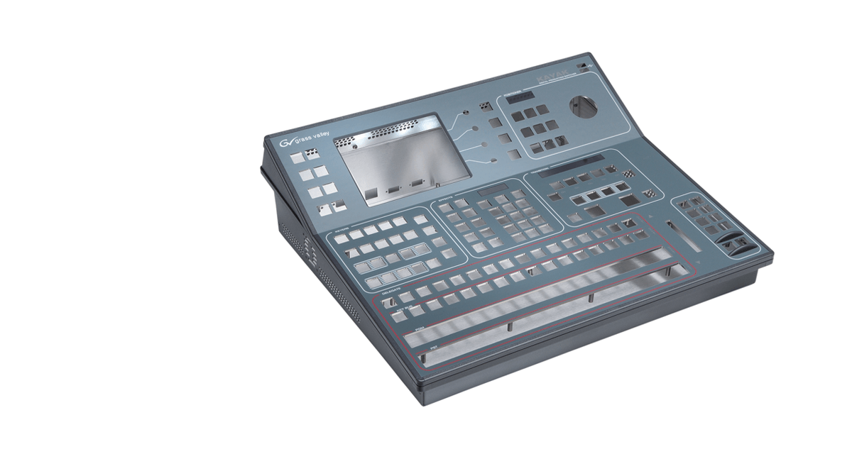 Aluminium housing (video mixing console)